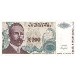 Bosnie Herzegovine - Pick 155 - 500'000'000 dinara - 1993 - Etat : NEUF