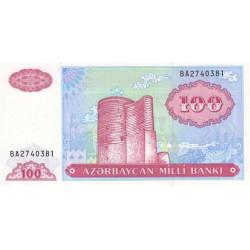 Azerbaïdjan - Pick 18b - 100 manat - 1993 - Etat : NEUF