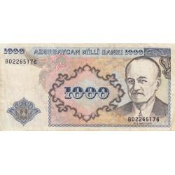 Azerbaïdjan - Pick 20b - 1'000 manat - 1993 - Etat : TB+