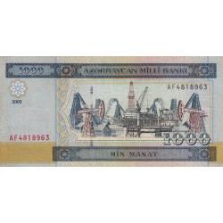 Azerbaïdjan - Pick 23 - 1'000 manat - Série AF - 2001 - Etat : TTB