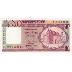 Bangladesh - Pick 26b2 - 10 taka - 1990 - Etat : SUP