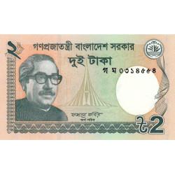 Bangladesh - Pick 52c - 2 taka - 2013 - Etat : NEUF