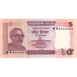 Bangladesh - Pick 53a - 5 taka - 2011 - Etat : NEUF