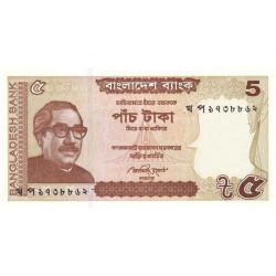 Bangladesh - Pick 53Aa - 5 taka - 2014 - Etat : NEUF