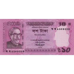 Bangladesh - Pick 54b - 10 taka - 2013 - Etat : NEUF
