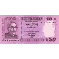 Bangladesh - Pick 54c - 10 taka - 2014 - Etat : NEUF