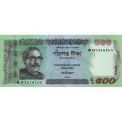 Bangladesh - Pick 58b - 500 taka - 2012 - Etat : NEUF