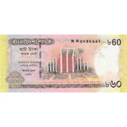 Bangladesh - Pick 61 - 60 taka - 2012 - Etat : NEUF