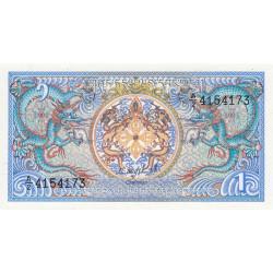 Bhoutan - Pick 12a - 1 ngultrum - 1986 - Série A/2 - Etat : NEUF