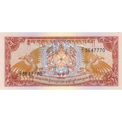 Bhoutan - Pick 14a - 5 ngultrum - 1985 - Etat : NEUF