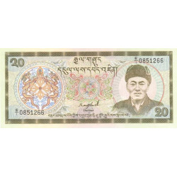 Bhoutan - Pick 16a - 20 ngultrum - 1986 - Etat : NEUF
