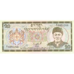 Bhoutan - Pick 16a - 20 ngultrum - Série E/1 - 1986 - Etat : NEUF