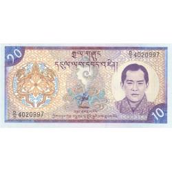 Bhoutan - Pick 22 - 10 ngultrum - 2000 - Série D/5 - Etat : NEUF