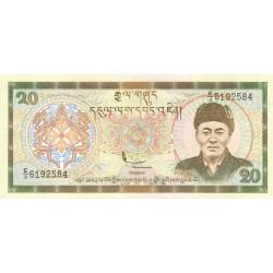 Bhoutan - Pick 23 - 20 ngultrum - 2000 - Série E/4 - Etat : NEUF