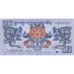 Bhoutan - Pick 27b - 1 ngultrum - 2013 - Série I - Etat : NEUF