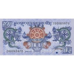 Bhoutan - Pick 27br (remplacement) - 1 ngultrum - 2013 - Etat : NEUF