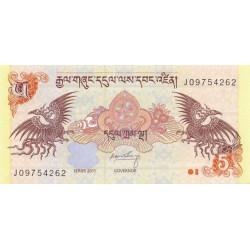 Bhoutan - Pick 28b - 5 ngultrum - 2011 - Etat : NEUF