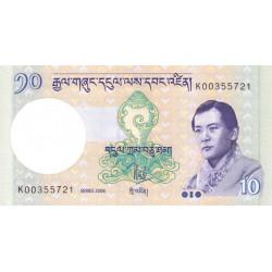 Bhoutan - Pick 29a - 10 ngultrum - 2006 - Etat : NEUF