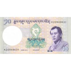 Bhoutan - Pick 29b - 10 ngultrum - 2013 - Série K - Etat : NEUF