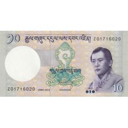 Bhoutan - Pick 29br (remplacement) - 10 ngultrum - 2013 - Série Z - Etat : NEUF