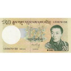Bhoutan - Pick 30b - 20 ngultrum - 2013 - Série L - Etat : NEUF