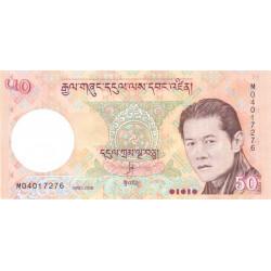 Bhoutan - Pick 31a - 50 ngultrum - 2008 - Série M - Etat : NEUF