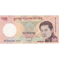 Bhoutan - Pick 31b - 50 ngultrum - 2013 - Série M - Etat : NEUF