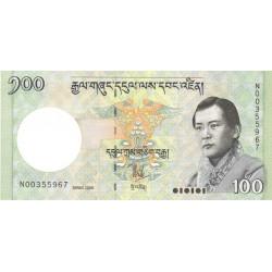 Bhoutan - Pick 32a - 100 ngultrum - 2006 - Série N - Etat : NEUF
