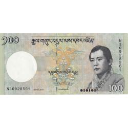 Bhoutan - Pick 32d - 100 ngultrum - 2015 - Série N - Etat : NEUF
