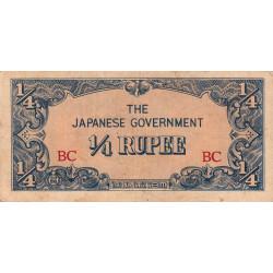 Birmanie - Pick 12a - 1/4 rupee - Série BC - 1942 - Etat : TB+