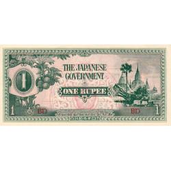 Birmanie - Pick 14a - 1 rupee - Série BD - 1942 - Etat : SPL