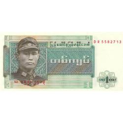 Birmanie - Pick 56 - 1 kyat - Série DR - Etat : NEUF