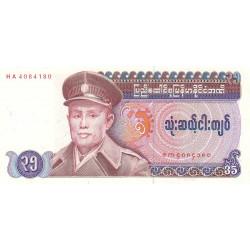 Birmanie - Pick 63 - 35 kyats - Série HA - 1986 - Etat : NEUF
