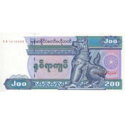 Myanmar - Pick 75b - 200 kyats - Série ER - 1995 - Etat : NEUF