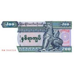 Myanmar - Pick 78 - 200 kyats - Série RM - 2004 - Etat : NEUF