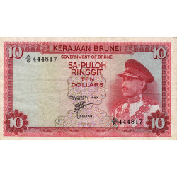 Brunei - Pick 3 - 10 dollars - 1967 - Etat : TTB