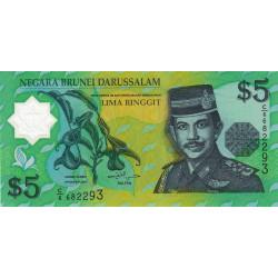 Brunei - Pick 23b - 5 dollars - 2002 - Polymère - Etat : NEUF