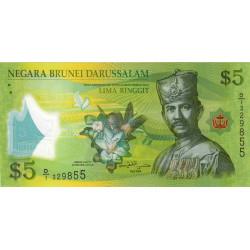 Brunei - Pick 36 - 5 dollars - 2011 - Polymère - Etat : NEUF