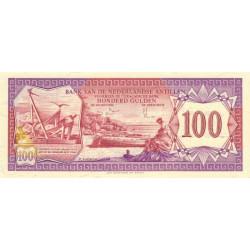 Antilles Néerlandaises - Pick 19b - 100 gulden - 09/12/1981 - Etat : NEUF