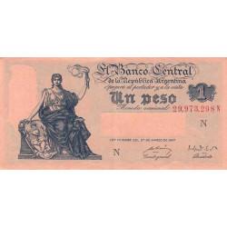 Argentine - Pick 257_2 - 1 peso - Série N - 1948 - Etat : SPL