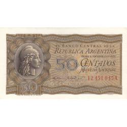 Argentine - Pick 259a - 50 centavos - Série A - 1947 - Etat : SPL