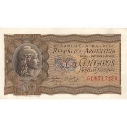 Argentine - Pick 259b - 50 centavos - Série A - 1947 - Etat : SPL-