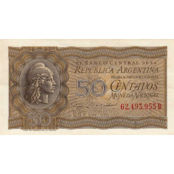 Argentine - Pick 261_2 - 50 centavos - Série B - 1951 - Etat : SPL-
