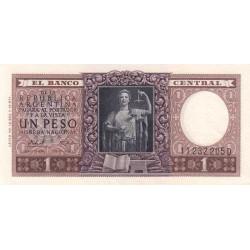 Argentine - Pick 263b_1 - 1 peso - Série D - 1956 - Etat : SPL+