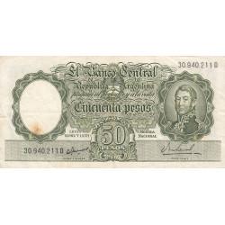 Argentine - Pick 271a - 50 pesos - Série D - 1955 - Etat : TB