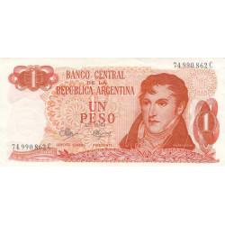 Argentine - Pick 287_3 - 1 peso - Série C - 1970 - Etat : SPL