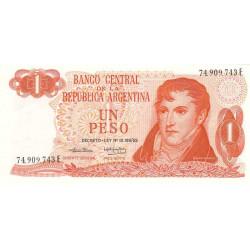 Argentine - Pick 293 - 1 peso - Série E - 1974 - Etat : NEUF