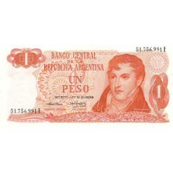 Argentine - Pick 293 - 1 peso - Série E - 1974 - Etat : SPL