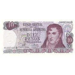 Argentine - Pick 295_4 - 10 pesos - Série D - 1973 - Etat : NEUF