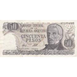 Argentine - Pick 301a2 - 50 pesos - Série B - 1976 - Etat : TTB